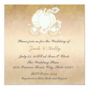 Cinderella Wedding Invitations Announcements Zazzle