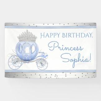 Cinderella Princess Girls Birthday Banner