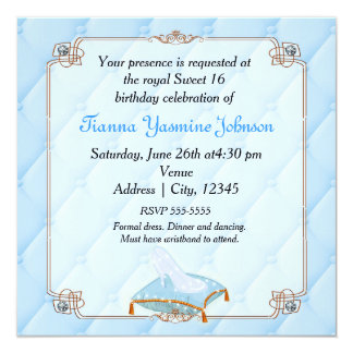 Cinderella Princess Glass Slipper Invitation