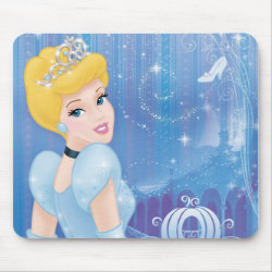 Mousepad with Starry Night Princess Cinderella design