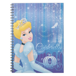 Photo Notebook (6.5' x 8.75', 80 Pages B&W) with Starry Night Princess Cinderella design