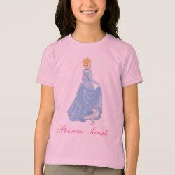 Girls' American Apparel Fine Jersey T-Shirt with Starry Night Princess Cinderella design