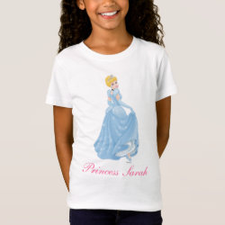 Girls' Fine Jersey T-Shirt with Starry Night Princess Cinderella design