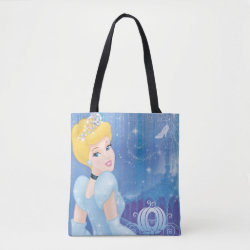 All-Over-Print Tote Bag, Medium with Starry Night Princess Cinderella design