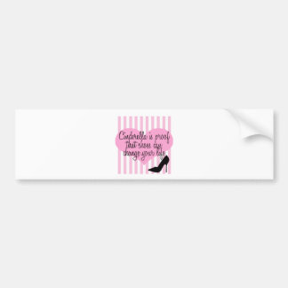 cinderella shoes bumper sticker