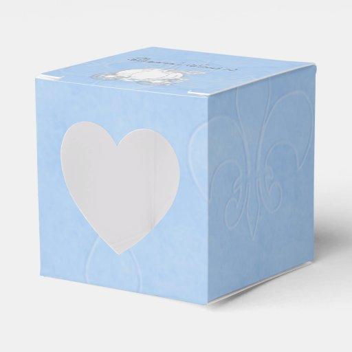 Cinderella Carriage Favor Boxes : Cinderella silver carriage blue party favor boxes zazzle