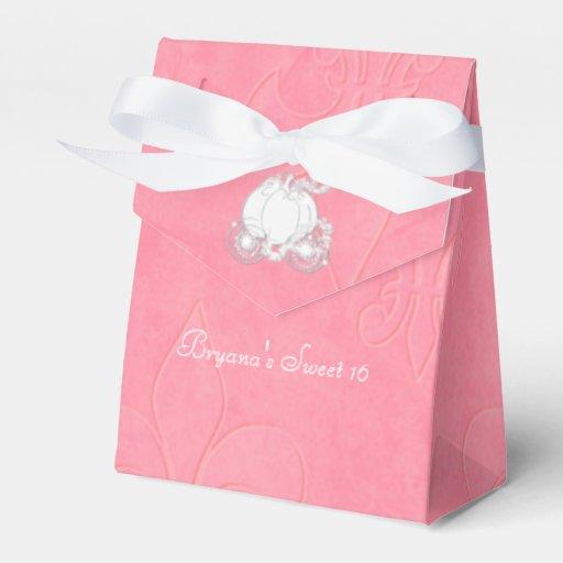 Cinderella Carriage Favor Boxes : Cinderella silver carriage pink party favor boxes zazzle