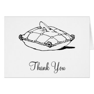 Cinderella Slipper Black White Thank You Cards