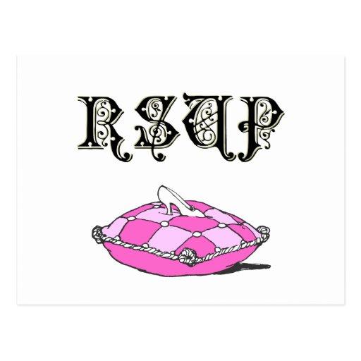 Cinderella Slipper Custom RSVP Response Postcards
