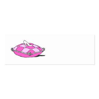 Cinderella Slipper on Pink Pillow Vintage Art Business Card