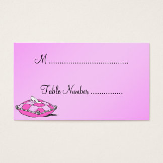 Cinderella Slipper Pink Custom Table Place Cards