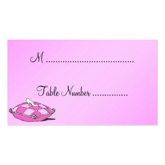 Cinderella Slipper Pink Custom Table Place Cards Double-Sided Standard Business Cards (Pack Of 100)
