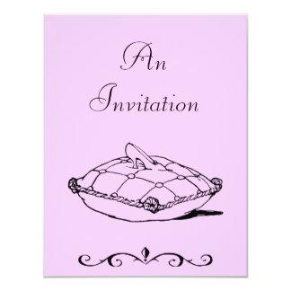 Cinderella Slipper Vintage Art Invitation Template