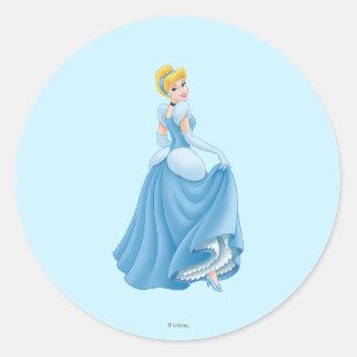 Cinderella Standing Classic Round Sticker
