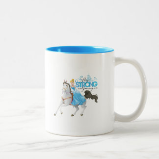 Cinderella | Stay Strong And Journey On Two-Tone Coffee Mug