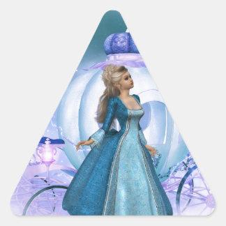 Cinderella Triangle Sticker