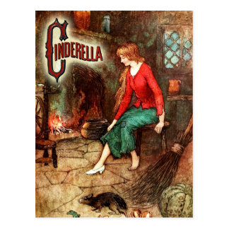 Cinderella Wearing One Glass Slipper Postcard