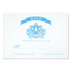 Cinderella Wedding | Carriage RSVP Card