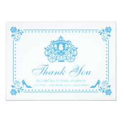 Cinderella Wedding | Carriage Thank You Card