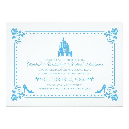 Wedding Invitations Castle Hill: Castle & Flowers Invitation