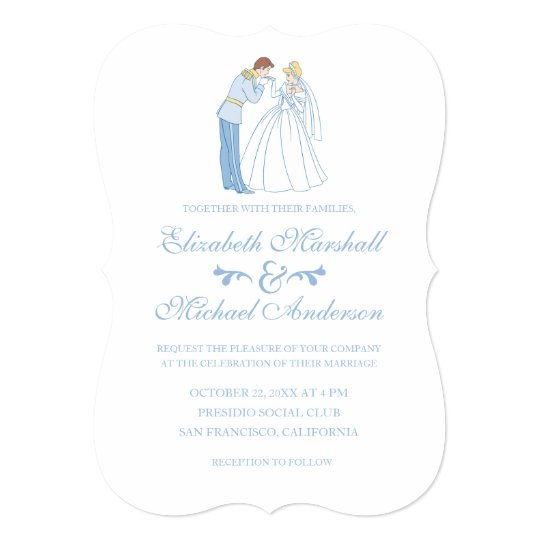 Cinderella Wedding Classic Invitation Zazzle Com