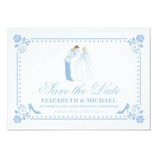 Cinderella Wedding | Classic Save the Date Card