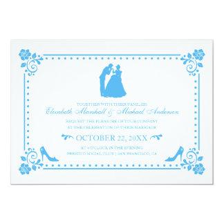 Cinderella Wedding   Silhouette & Flowers Invite