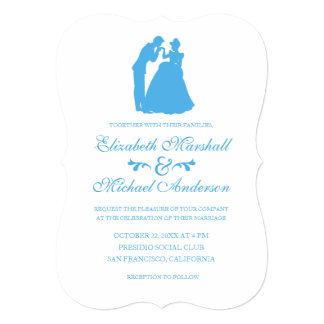 Cinderella Wedding   Silhouette Invitation