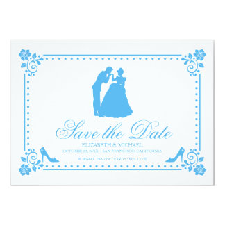 Cinderella Wedding | Silhouette Save the Date Card