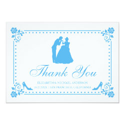 Cinderella Wedding | Silhouette Thank You Card