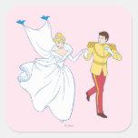 Cinderella Wedding Square Sticker