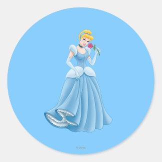 Cinderella with Flower Classic Round Sticker