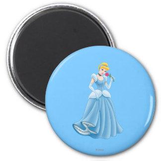 Cinderella with Flower Fridge Magnets