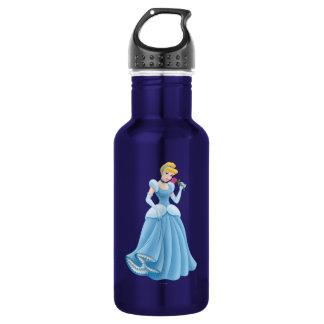 Cinderella with Flower Water Bottle