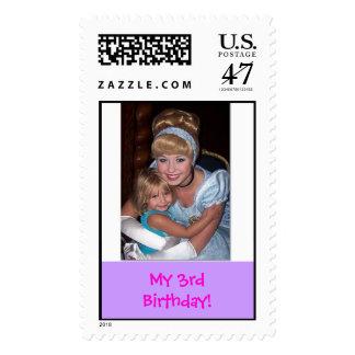 Cinderella with Sheridan, My 3rd Birthday! Postage