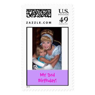 Cinderella with Sheridan, My 3rd Birthday! Postage Stamp