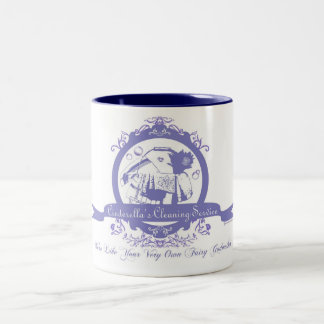 Cinderella's Cleaning Service Two-Tone Coffee Mug