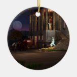 Cinderella's Coach Double-Sided Ceramic Round Christmas Ornament