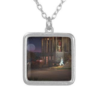 Cinderella's Coach Silver Plated Necklace
