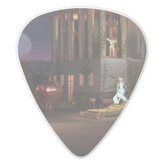 Cinderella's Coach White Delrin Guitar Pick