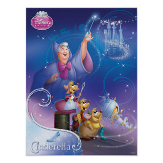 Cinderella's Fairy Godmother Poster