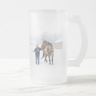 Cindy and Irish Frosted Beer Mug