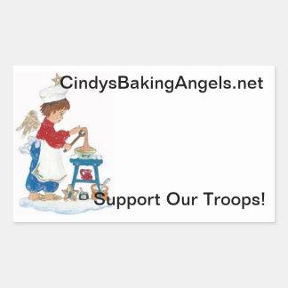Cindy's Baking Angels Goodie Box Stickers! Rectangular Sticker