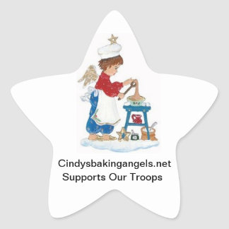 Cindy's Baking Angels Goodie Box Stickers! Star Sticker