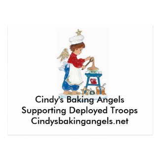 Cindy's Baking Angels Postcard for the Troops