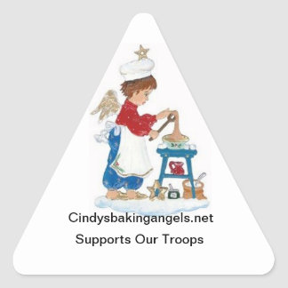 Cindy's Baking Angels Stickers! Triangle Sticker