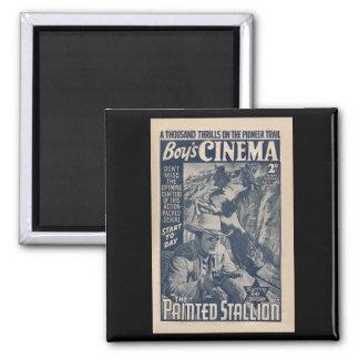 Cine 1938 de los muchachos - el semental pintado imán cuadrado