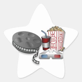 cine 3D Calcomanías Forma De Estrellas