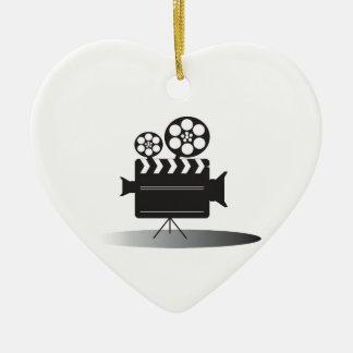 Cine Camera Ceramic Ornament