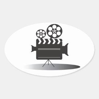 Cine Camera Oval Sticker